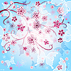Vector clipart: Spring gentle background
