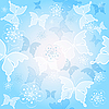 Vector clipart: Spring blue seamless pattern