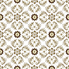 Vector clipart: Seamless brown-white vintage pattern