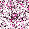 Vector clipart: Seamless pink floral pattern