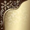 Векторный клипарт: винтажная золотая открытка
