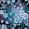 Vector clipart: Dark seamless floral pattern