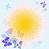 Vector clipart: Abstract spring frame with rays