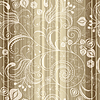 Seamless gold striped floral pattern   Stock Vector Graphics