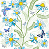 Vector clipart: Repeating white floral pattern