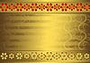 Vector clipart: Gold vintage frame ()
