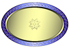 Vector clipart: Silvery oval plate