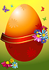 Vector clipart: Easter frame