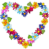 Vector clipart: Decorative valentine frame
