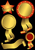 Vector clipart: Set metallic awards