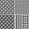 Vector clipart: Collection seamless patterns
