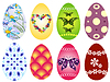 Vector clipart: Collection Easter`s eggs