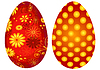 Vector clipart: Red Easter`s eggs