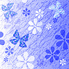 White and blue floral pattern | Stock Vector Graphics