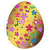 Vector clipart: Big golden Easter`s egg