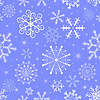Vector clipart: Christmas blue seamless pattern