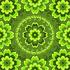 Vector clipart: Repeating green floral pattern