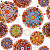 Vector clipart: White seamless pattern of circles