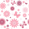 Vector clipart: White seamless floral pattern