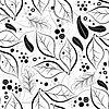 Vector clipart: Seamless autumn floral pattern