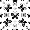 Vector clipart: White-black seamless pattern