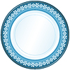 Vector clipart: White and blue plate