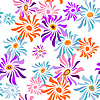 Vector clipart: Floral white seamless pattern