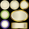 Vector clipart: White plates with ornament