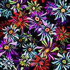 Vector clipart: Floral black seamless pattern