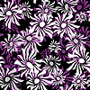 Vector clipart: Dark repeating floral pattern