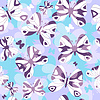 Vector clipart: Repeating pattern with butterflies