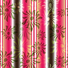 Vector clipart: Pink-green floral seamless striped pattern