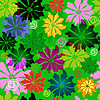Vector clipart: Green floral seamless pattern