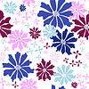Vector clipart: Floral seamless white pattern