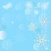 Vector clipart: Christmas blue frame