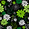 Vector clipart: Floral seamless dark pattern