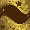 Vector clipart: Decorative golden and brown frame