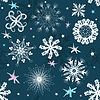 Vector clipart: Dark blue Christmas seamless pattern