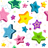 Vector clipart: Seamless white pattern with stars