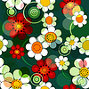 Dark green floral seamless pattern | Stock Vector Graphics