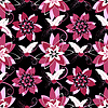 Vector clipart: Seamless black floral pattern