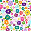 Seamless white floral pattern | Stock Vector Graphics