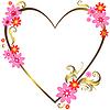 Золотой силуэт сердца