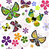 Vektor Cliparts: Weiß mühelos Blumenmuster