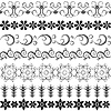 Vektor Cliparts: Schwarze dekorative Bordüren