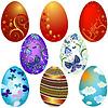 Vektor Cliparts: Set `s Ostern Eier