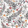 Vektor Cliparts: Weißes nahtloses Blumenmuster