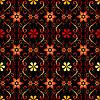 Vektor Cliparts: Schwarzes florales nahtloses Pattern