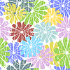 White seamless grunge floral pattern | Stock Vector Graphics