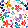Spring seamless white floral pattern | Stock Vector Graphics